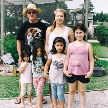 Uncle E and granddaughters