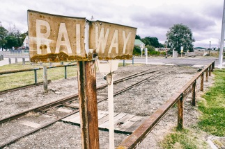 A sign of days gone by (though sections are still used by the city's Vintage Rail)