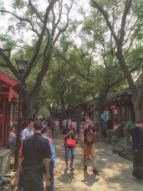 Walking up Nanluogu Xiang on the hunt for our hutong