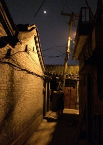 A night time hutong stroll on the way back to our hotel