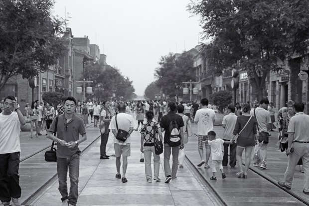 Today Qianmen Street is a pedestrian mall