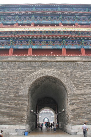 Passageway through Zhengyangmen. This gatehouse is the tallest in Beijing.