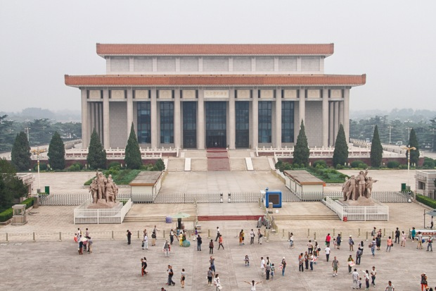 The Chairman Mao Memorial Hall, where Mao Zedong lies in state. If it had been open we may have gone in - depending on the queue which can extend hundreds of meters.