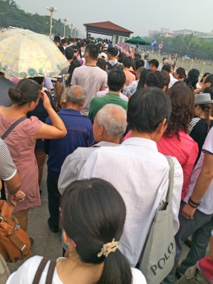 Queuing to get into Tiananmen Square. One of *many* security checkpoints we'd go through while we were in China.