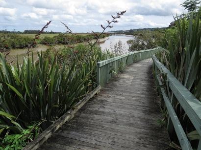 The river walkway