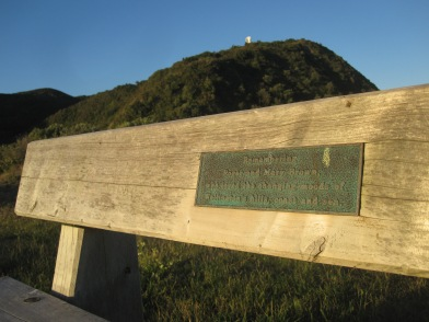 """Remembering Roger and Mary Brown, who loved the changing moods of Wellington's hills, coast and sea."""