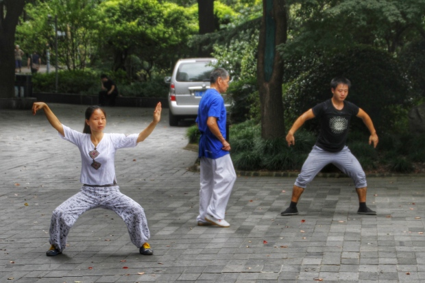 tai chi, people's square, shanghai