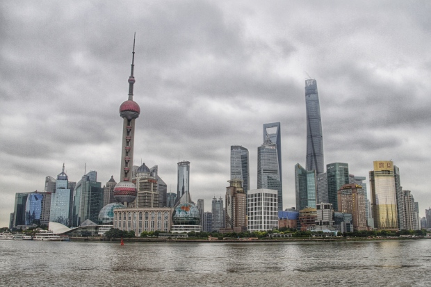 pudong from the bund - day
