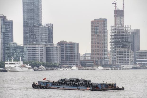 barge, huangpu river