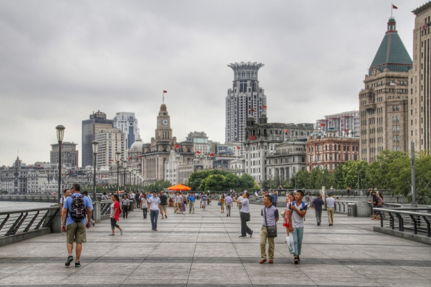 walking on the bund