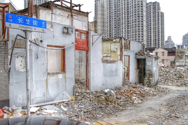 Destruction of Shanghai old neighbourhood - Changsheng St