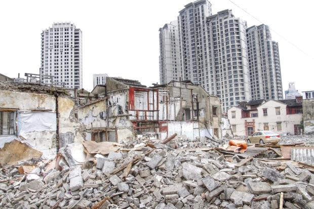 Destruction of Shanghai old neighbourhood