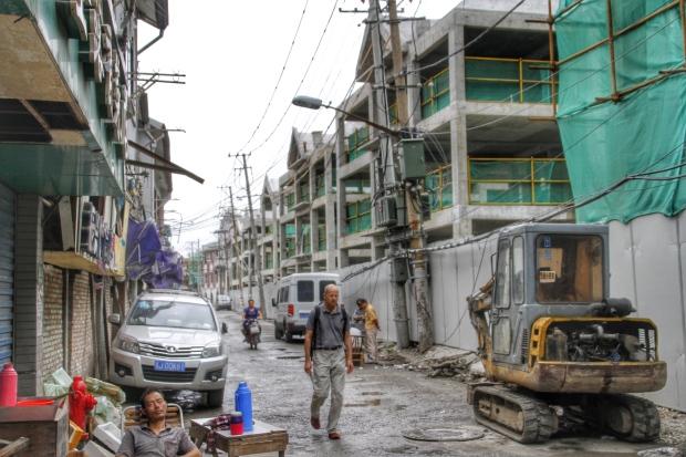 Rebuild of Shanghai old neighbourhood