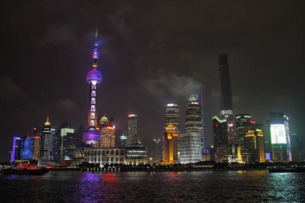 pudong from the bund - night
