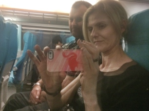 Silly onboard selfie