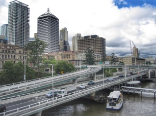 Downtown Brisbane from Victoria Bridge