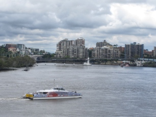 Ferry on the Brisbane Rier
