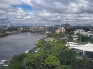 View from the Brisbane Wheel