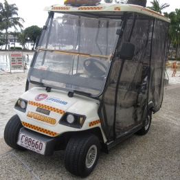 Streets Beach lifeguard buggy
