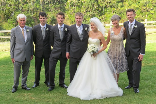 bride with groom's family