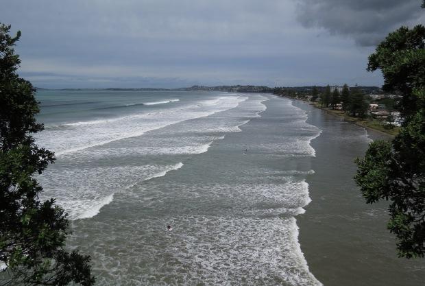 post storm swell at orewa