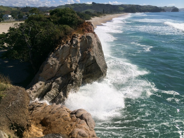 The cliffs provide a great view back along the 1.5km beach