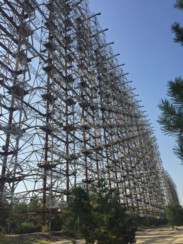 And here we have Duga 1 aka Chernobyl 2 aka the Russian Woodpecker (because of the noise it would make over the airwaves... not a great way to stay a secret!)