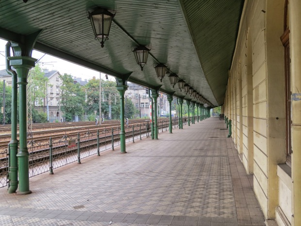 Obsolete: the old train station (I think they must look the same all over the world) sits quietly not far from its flashy successor