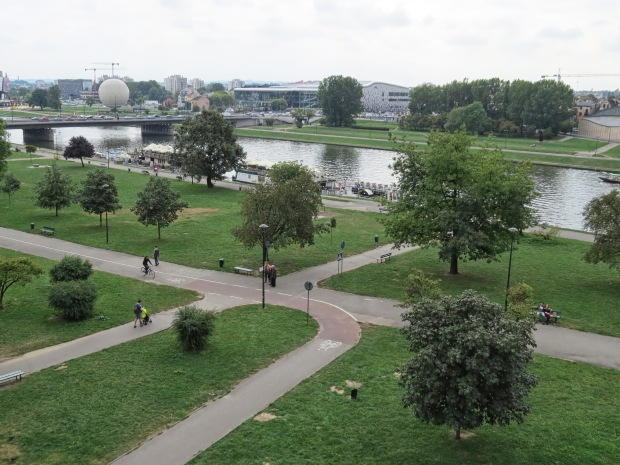 The Vistula River. I'll head to the riverfront another day