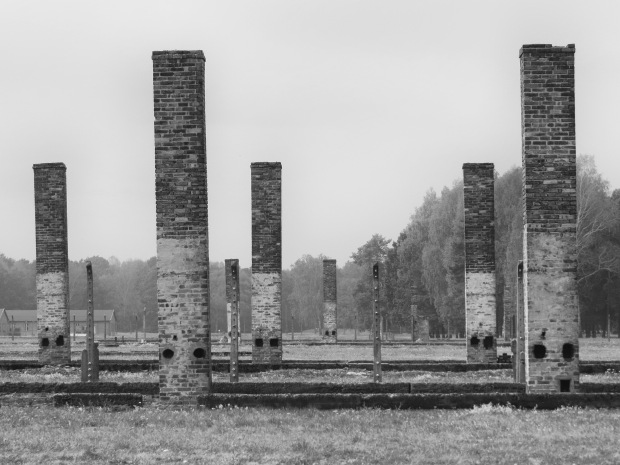 Of the 300+ buildings at Birkenau, only 67 remain intact. There were rows upon rows of foundation outlines and chimneys