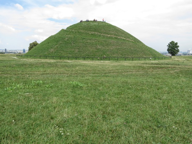 A few minutes walk over the motorway and up another hil is the Krakus Mound. Regarded as the oldest structure in Kraków, it was probably used for pagan rituals back in the day