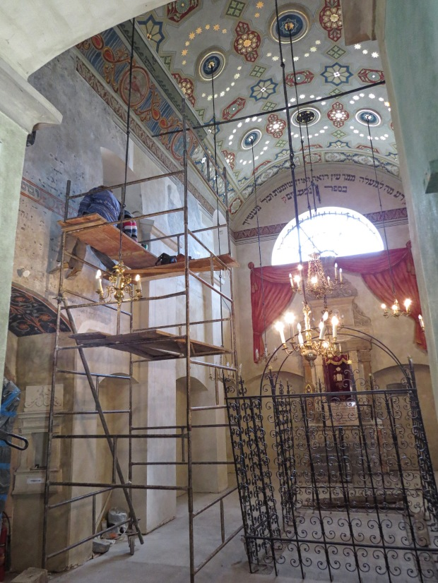 The synagogue is undergoing restoration so we couldn't venture too far