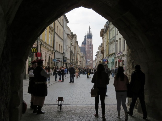 Walking through the Florian Gate