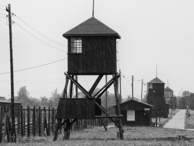 There were 18 guard towers along the fence around the prisoner camp area