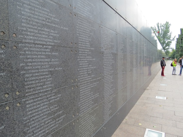 Memorial wall outside the museum