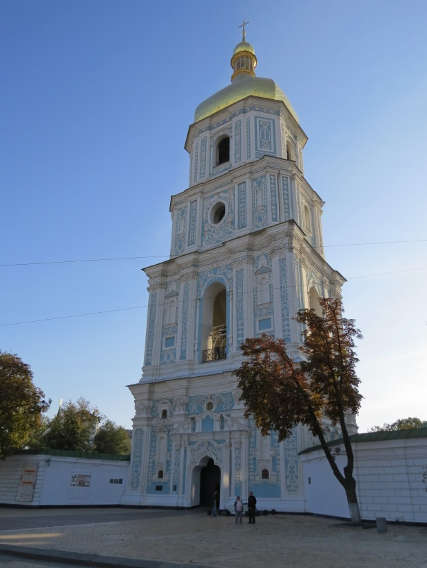 The beautiful St Sophia Cathedral bell tower. Best photographed in the morning light, but oh well!