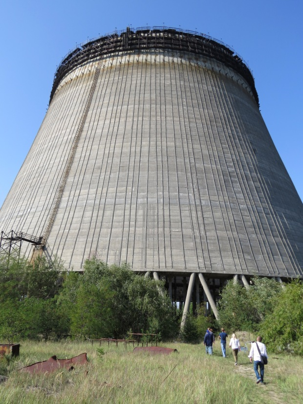 Cooling tower 5, never completed as the accident halted plans for further expansion of the facility