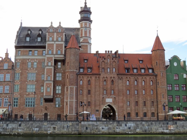 Due to the nature of its waterways, Gdansk contains a few islands. Granary Island was across the river from my apartment; this is from the island looking back over. There are still several of those old brick gates remaining