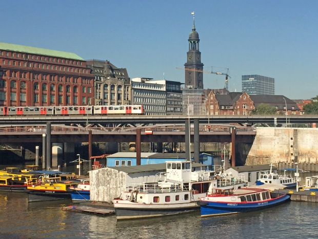 Loads of Hamburg elements in this image including St Michael's where I was earlier