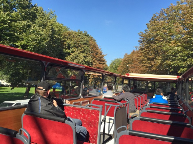 Beautiful day for open top double-decker - just watch out for tree branches