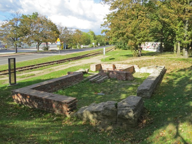 Remains of the railway station