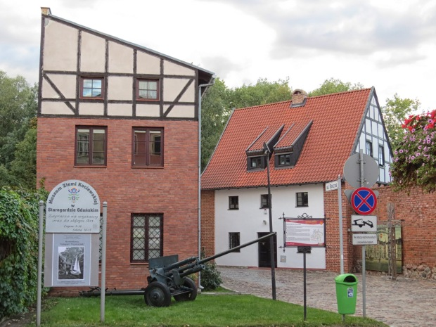 The Museum of Kociewie in Starogard Gdański is located in what was the north-west corner of the 14th century city walls. Starogard means 'old city' in the old regional language and Gdański was tacked on as a differentiator