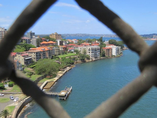 Looking back to 'our side' of the bridge, Kirribilli