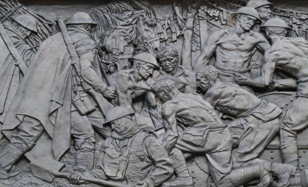 The frieze on the ANZAC Memorial