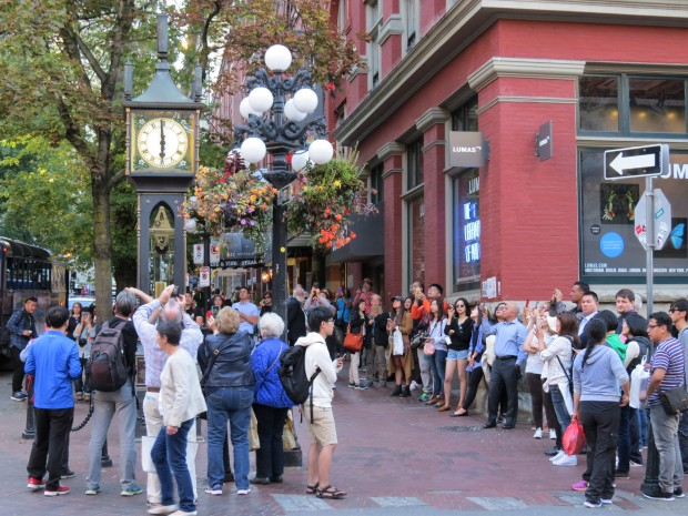 Gastown is firmly on the tourist route as might be difficult to tell around the musical steam clock which regularly emits guess-what