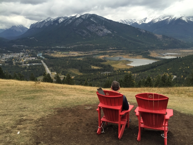 Perfect chair spot up on Mt Norquay Scenic Drive.