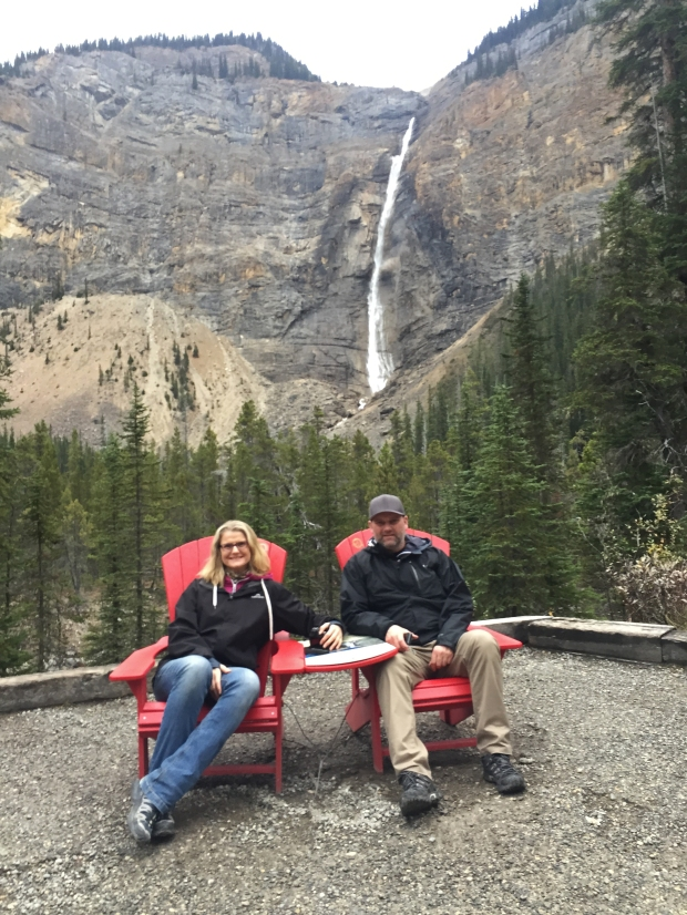 The sole offering for our collection from Yoho National Park was at Takakkaw Falls - where for something different the chairs are facing out.