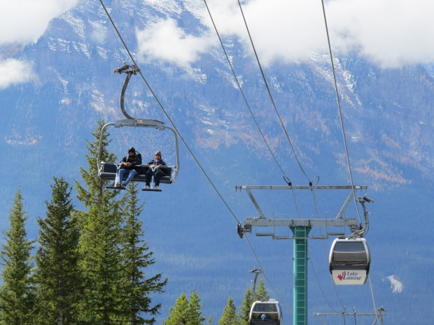 Nice day for a gondola ride - or chairlift if you'd prefer.